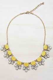 Unlabel Mustard Statement Necklace - Front cropped