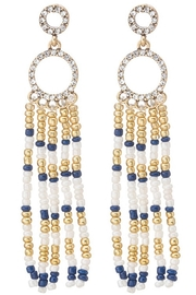Unlabel Navy/white Tassel Earrings - Product Mini Image