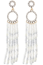 Unlabel White Tassel Earrings - Product Mini Image