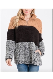 Unlimited Color Black Fuzzy Sweater - Front cropped