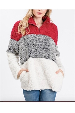 Unlimited Color Black Fuzzy Sweater - Alternate List Image