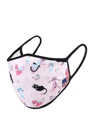 Unlisted Pink-Cats Face Mask - Product Mini Image