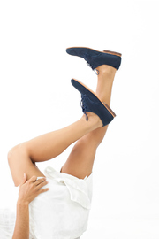 Unmarked Derby Navy Shoes - Product Mini Image