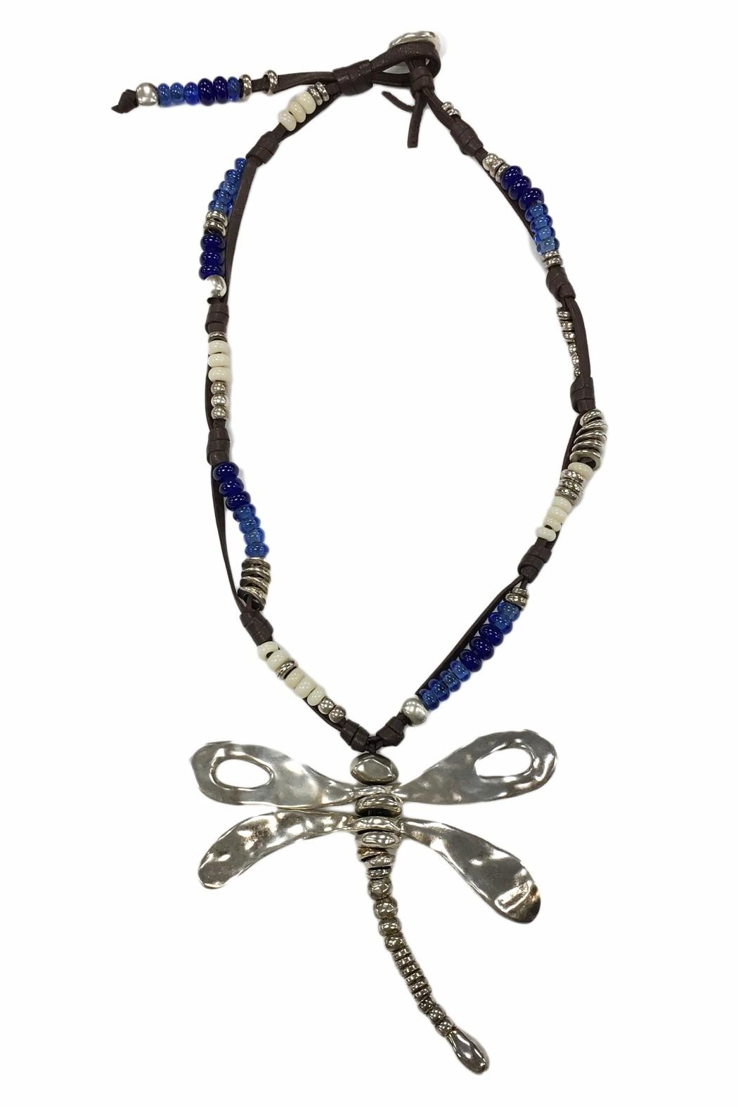 Uno de 50 Beaded Dragonfly Necklace - Main Image