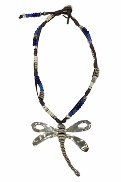 Shoptiques Product: Beaded Dragonfly Necklace