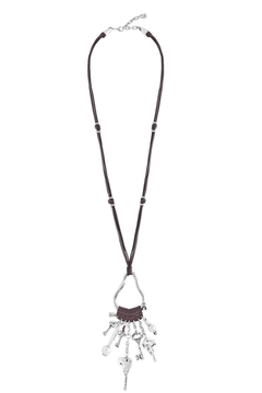 Uno de 50 Brown Leather Necklace - Product List Image