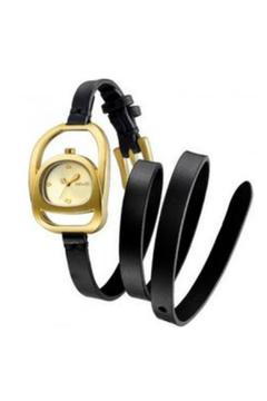 Shoptiques Product: Leather And Gold Watch