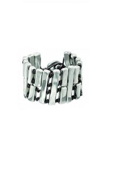 Shoptiques Product: Leather Silver Bracelet