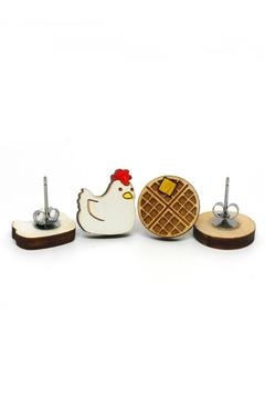 Shoptiques Product: Chicken And Waffle Earrings