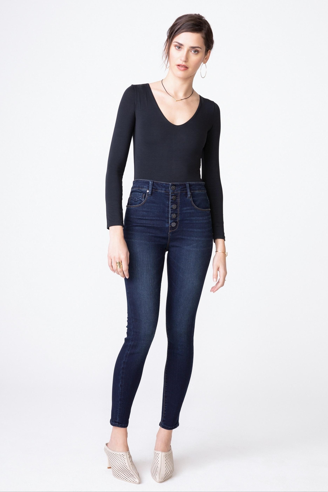 Unpublished Ella Sky-High Rise Jeans - Back Cropped Image
