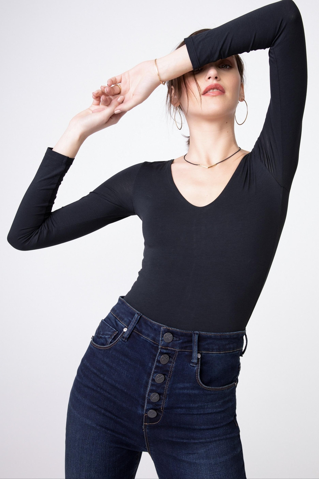 Unpublished Ella Sky-High Rise Jeans - Side Cropped Image