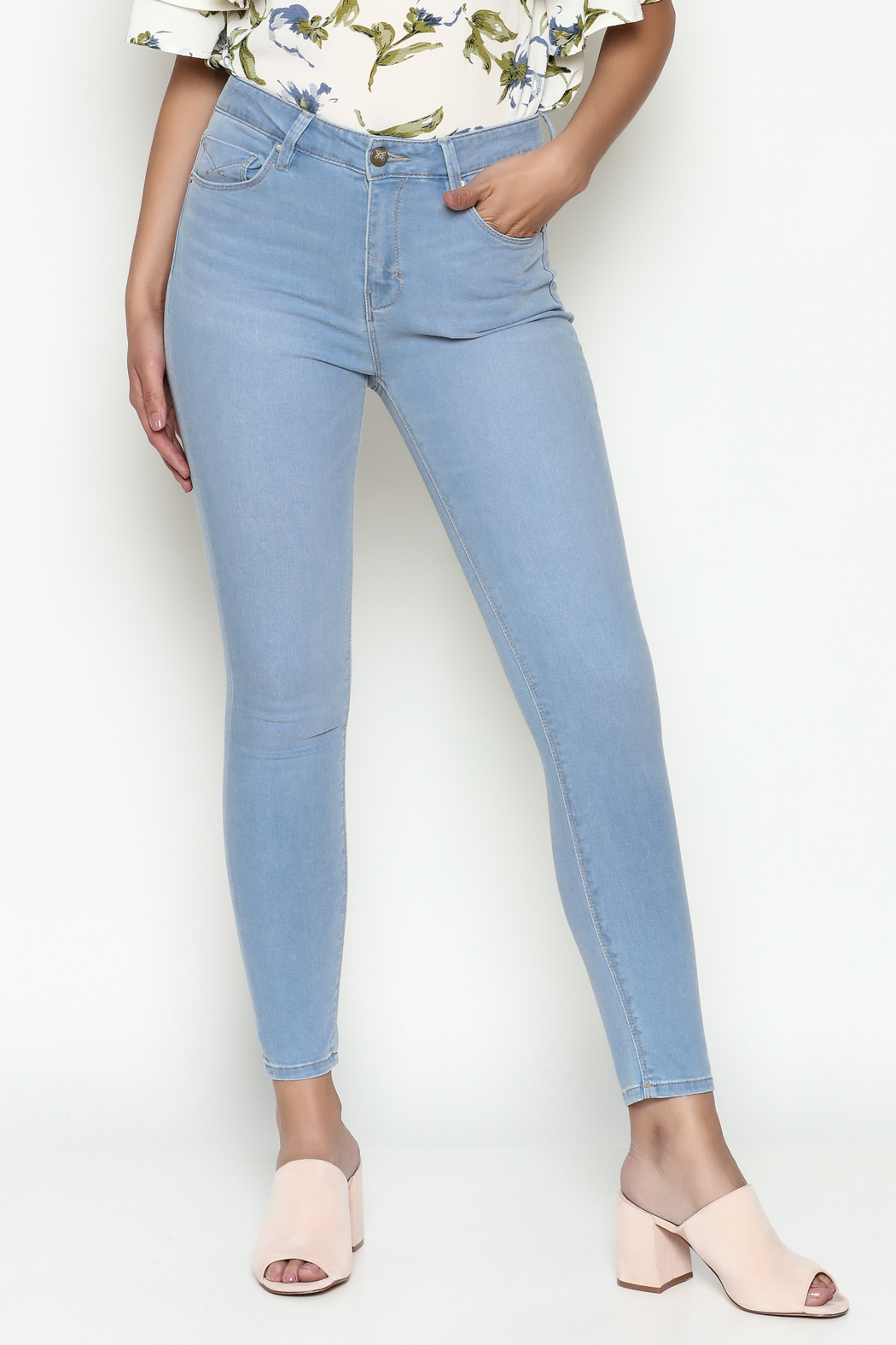 Unpublished High Rise Skinny Jeans - Main Image