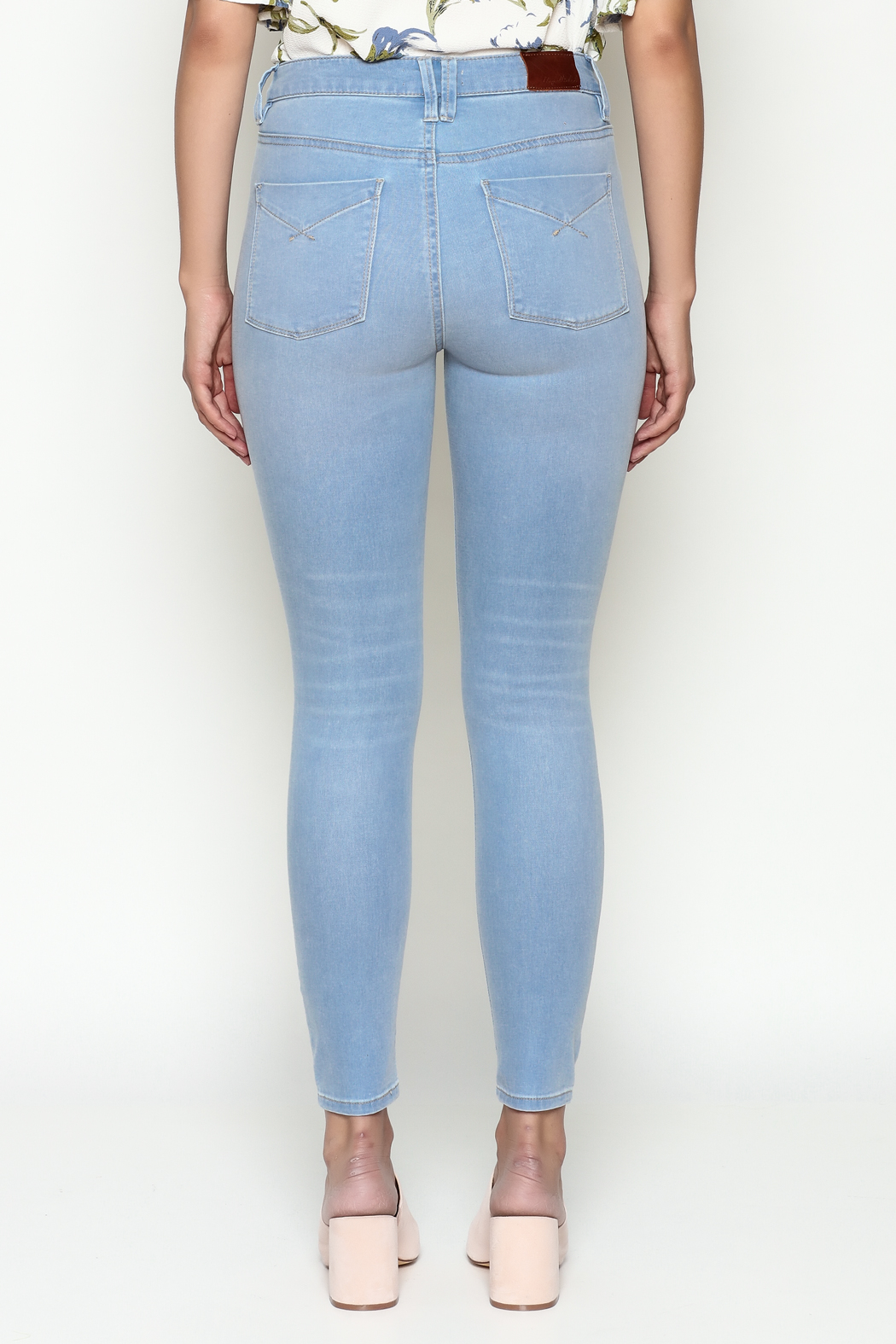 Unpublished High Rise Skinny Jeans - Back Cropped Image