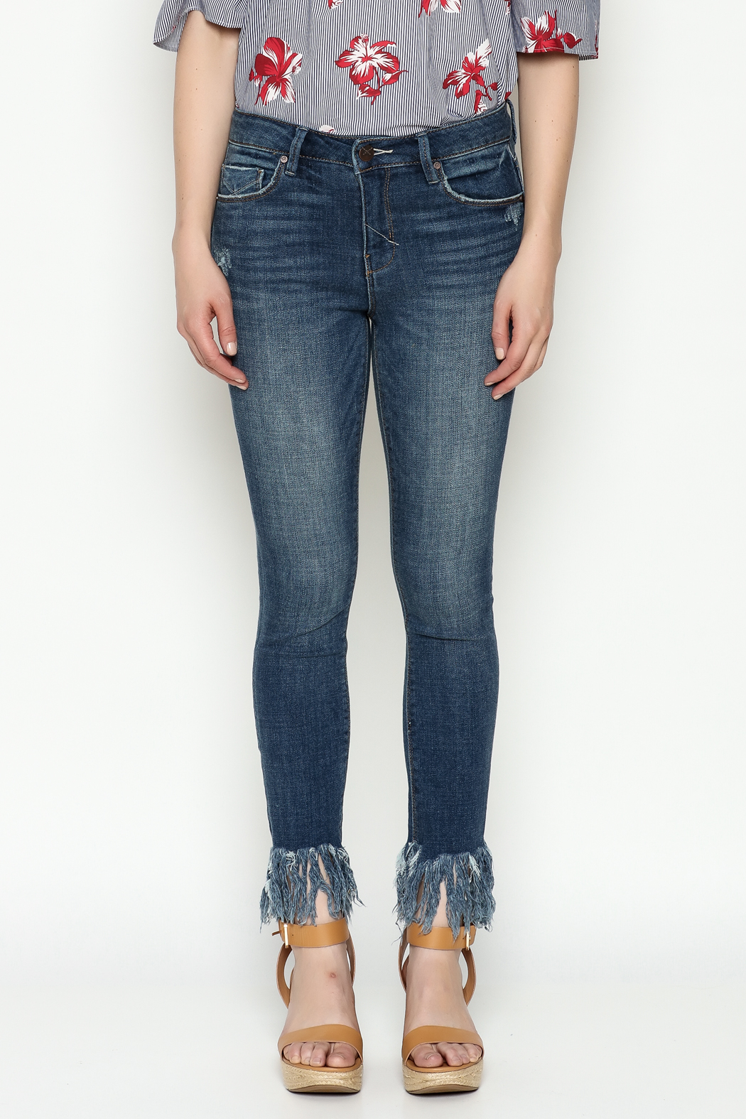 Unpublished Mid Rise Skinny Jeans - Front Full Image