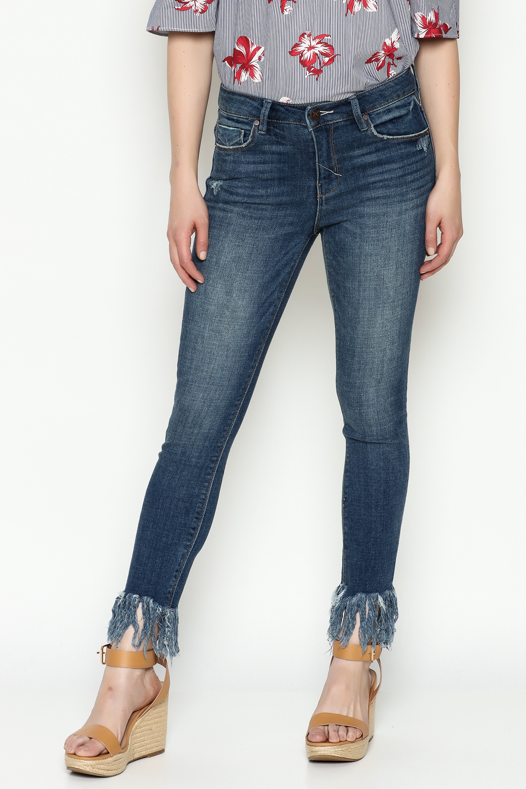 Unpublished Mid Rise Skinny Jeans - Front Cropped Image