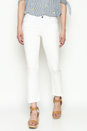 Unpublished White Crop Pants - Front cropped