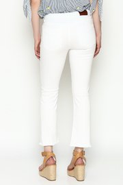 Unpublished White Crop Pants - Back cropped