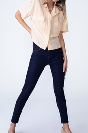 Unpublished Olivia High Rise Skinny In Marine - Side cropped