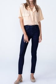 Unpublished Olivia High Rise Skinny In Marine - Front cropped