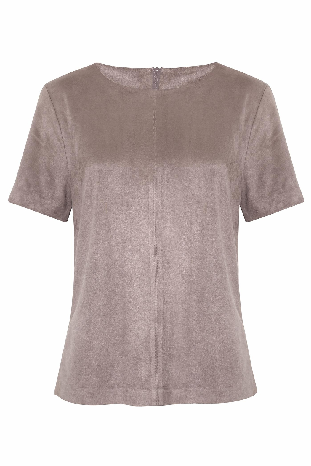 UNREAL FUR Bewitched Suede Tee - Front Cropped Image