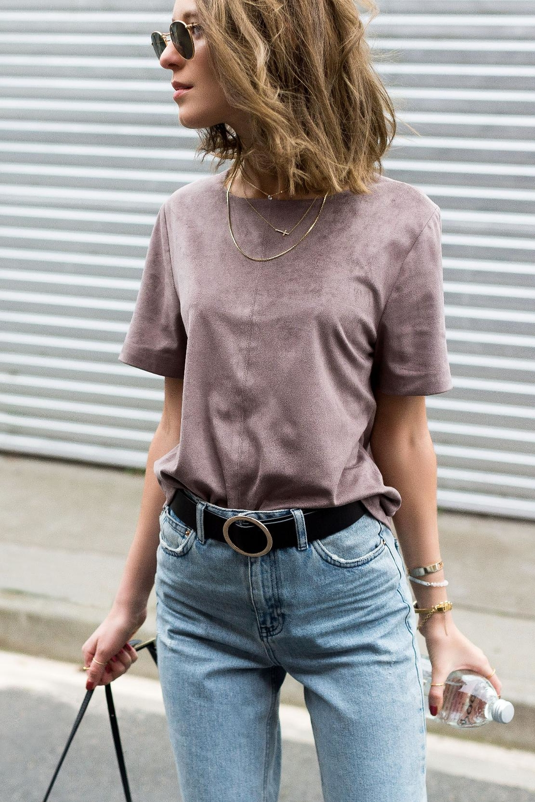 UNREAL FUR Bewitched Suede Tee - Main Image