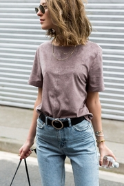 UNREAL FUR Bewitched Suede Tee - Front full body