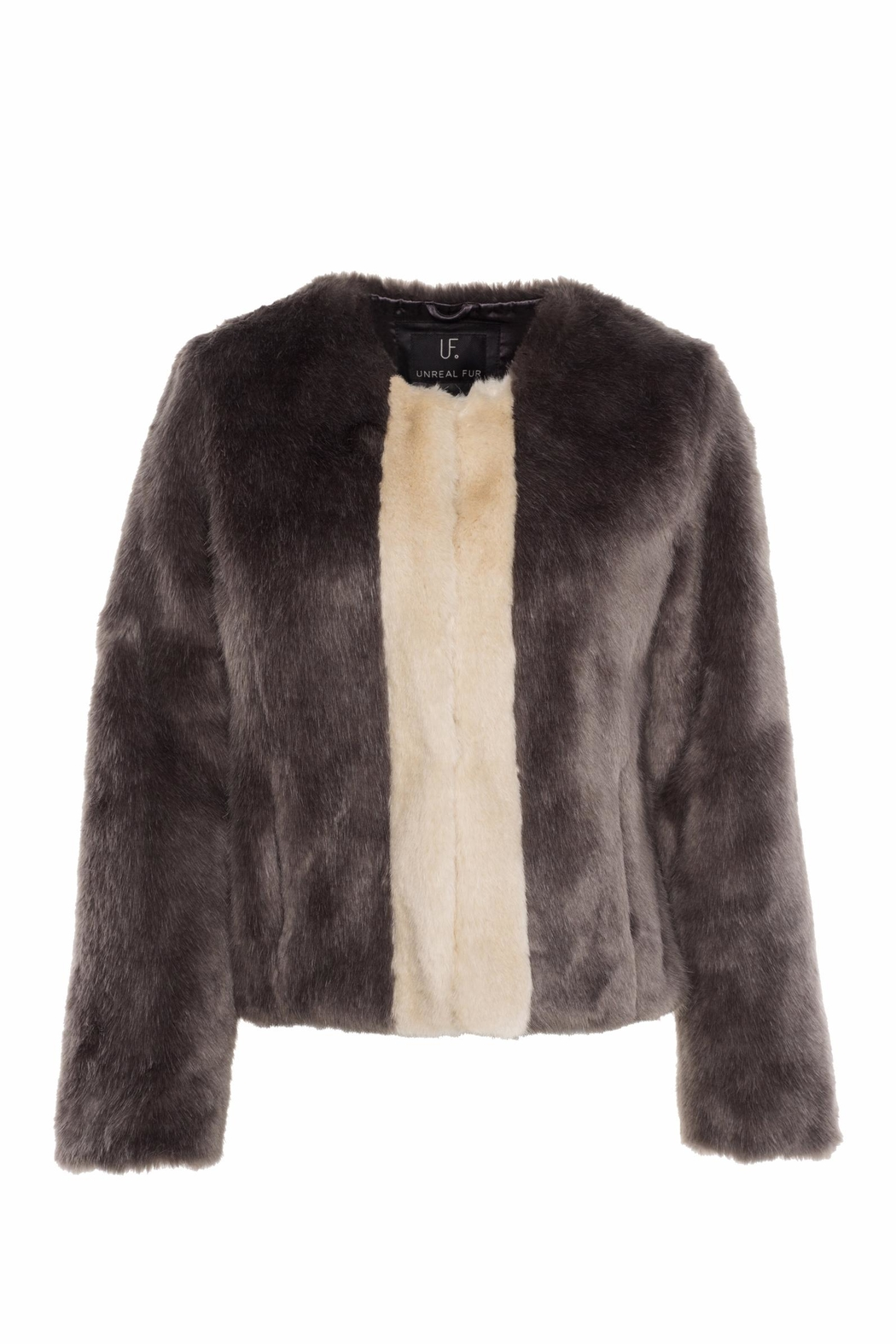 UNREAL FUR Classic Stripe Jacket - Front Cropped Image