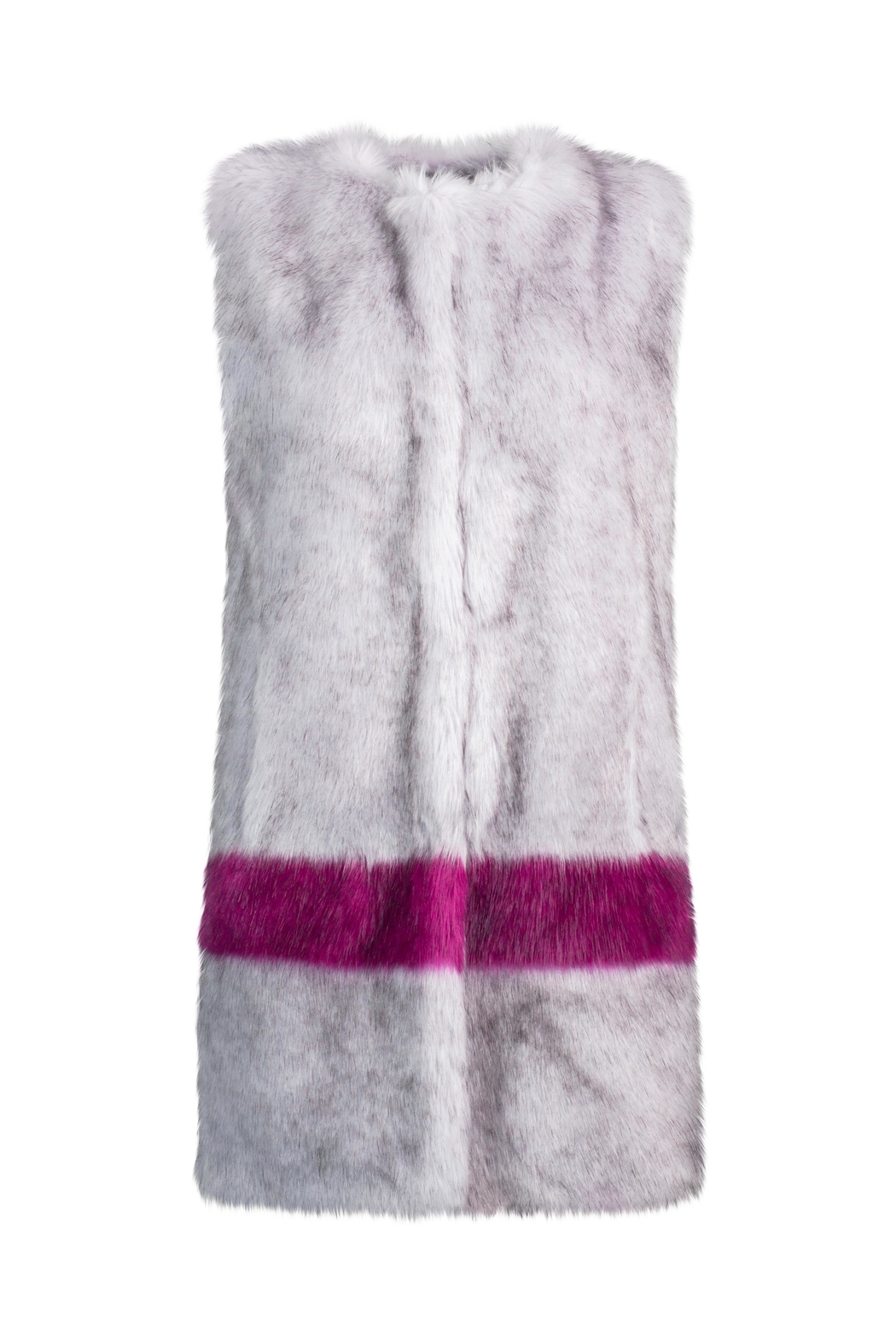 UNREAL FUR Hint Of Orchid Vest - Front Full Image