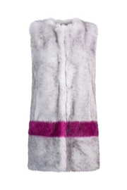 UNREAL FUR Hint Of Orchid Vest - Front full body