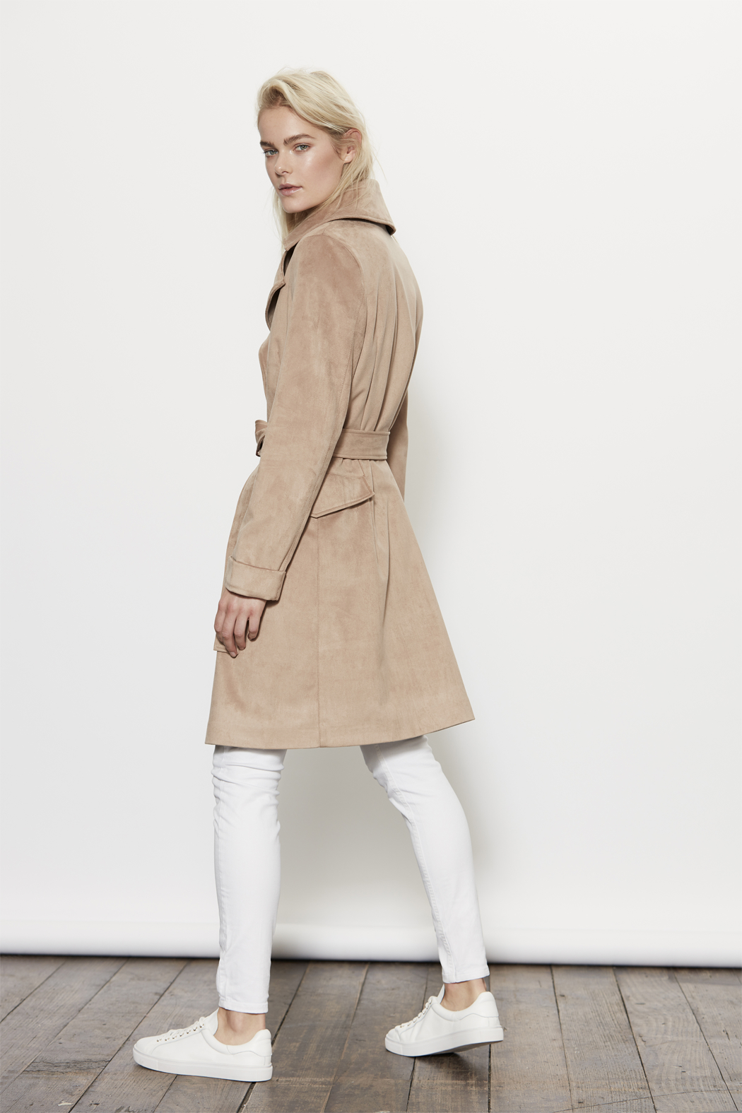 UNREAL FUR Magic Trench Coat - Side Cropped Image