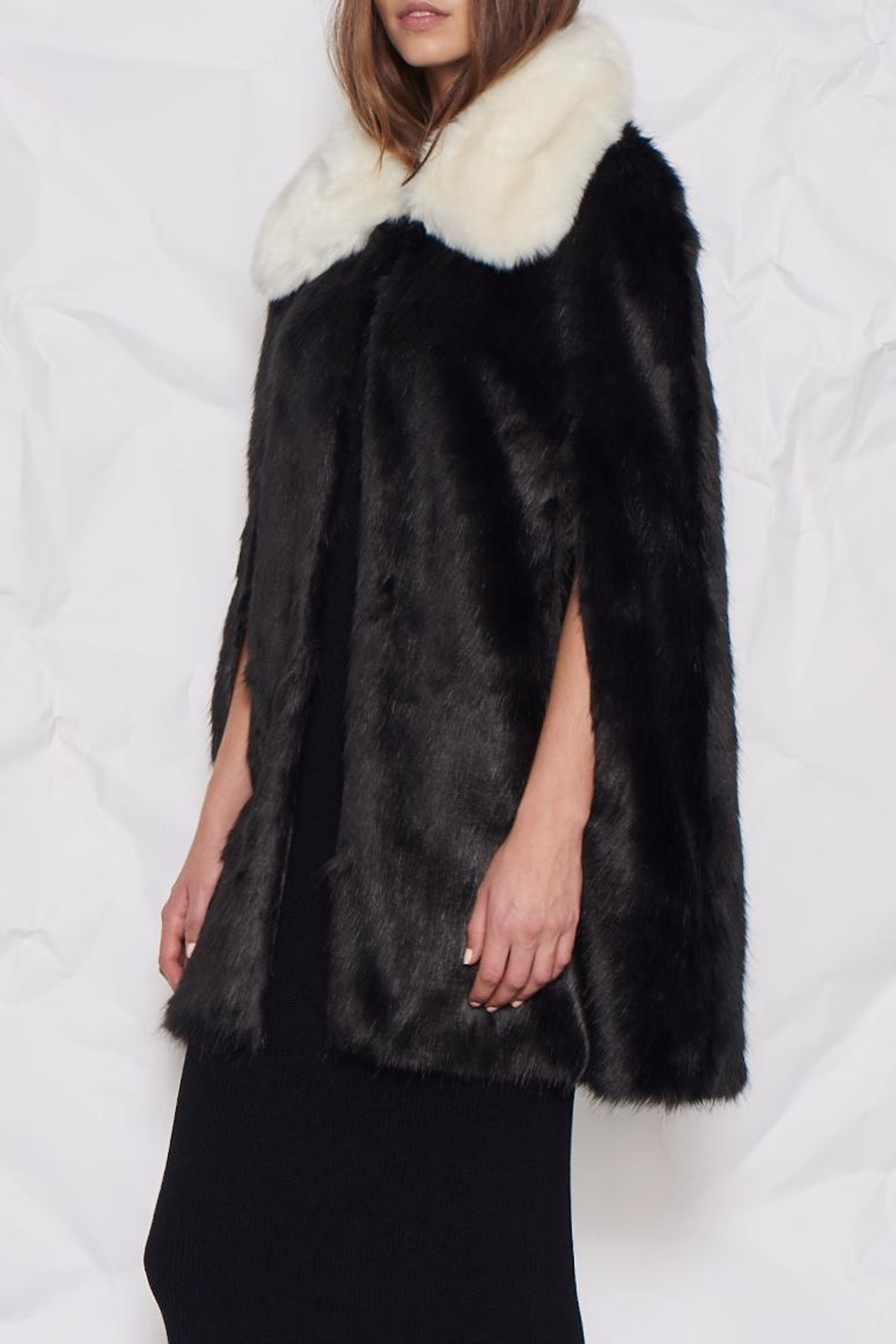 UNREAL FUR Majestic Cape - Front Cropped Image