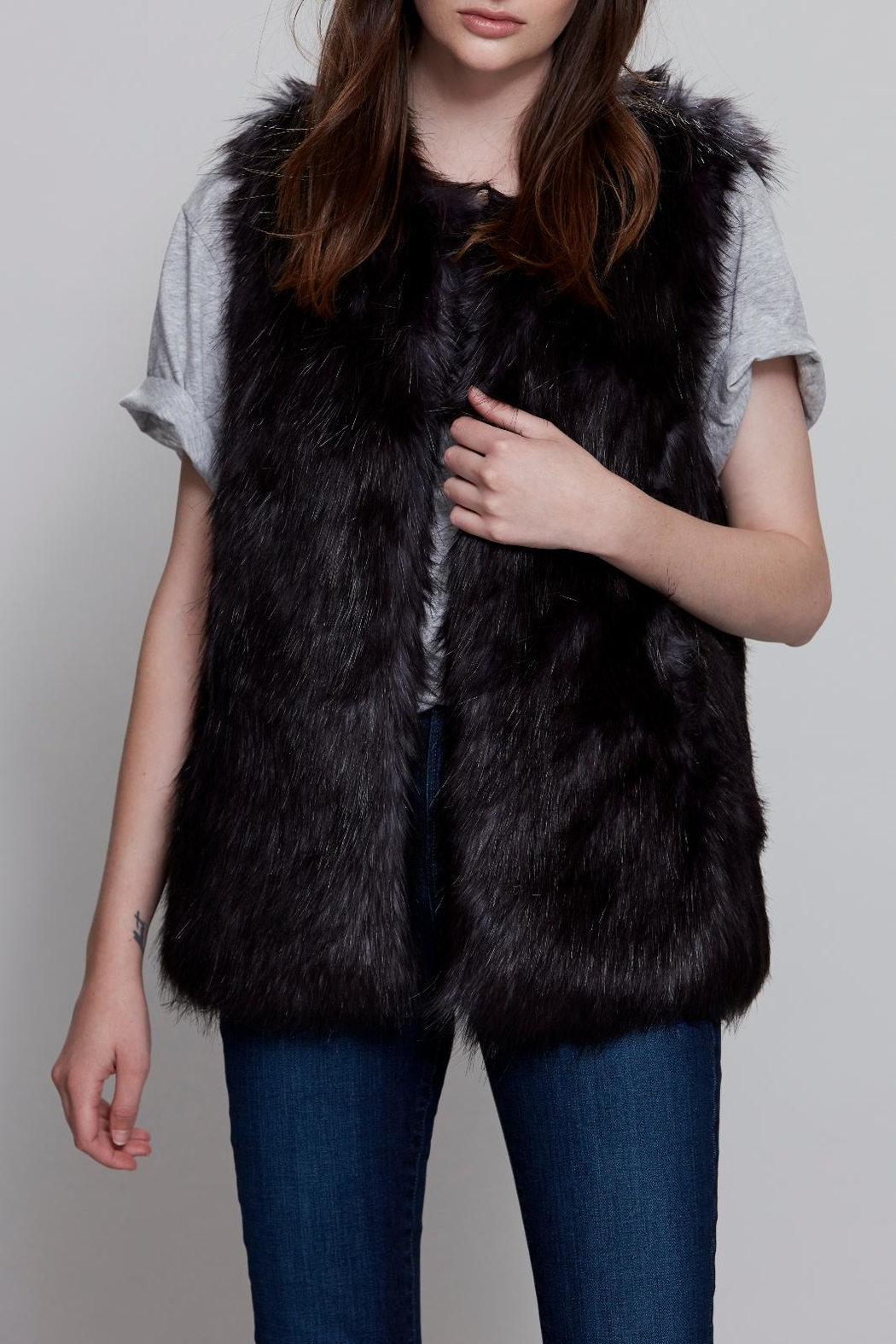 UNREAL FUR Midnight Vest - Front Cropped Image