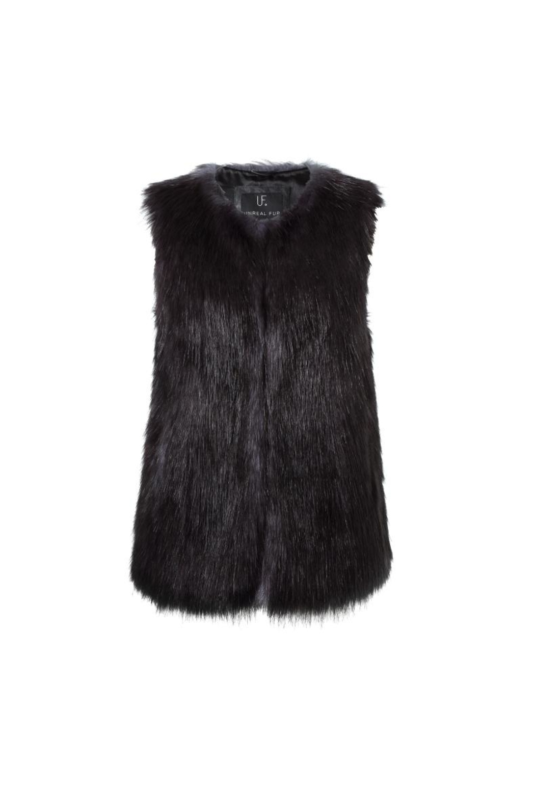 UNREAL FUR Midnight Vest - Front Full Image