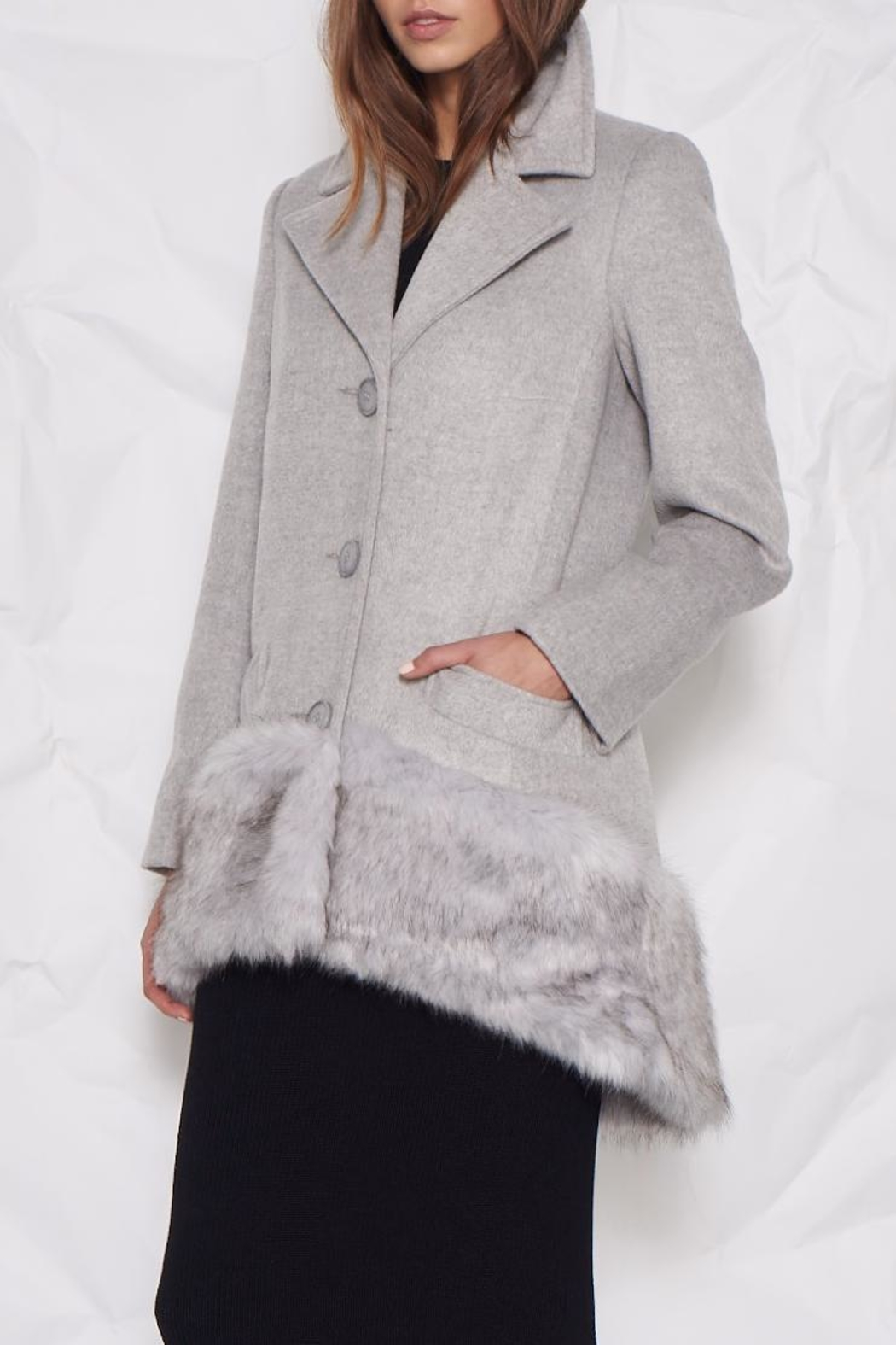 UNREAL FUR Philosopher's Stone Coat - Front Cropped Image