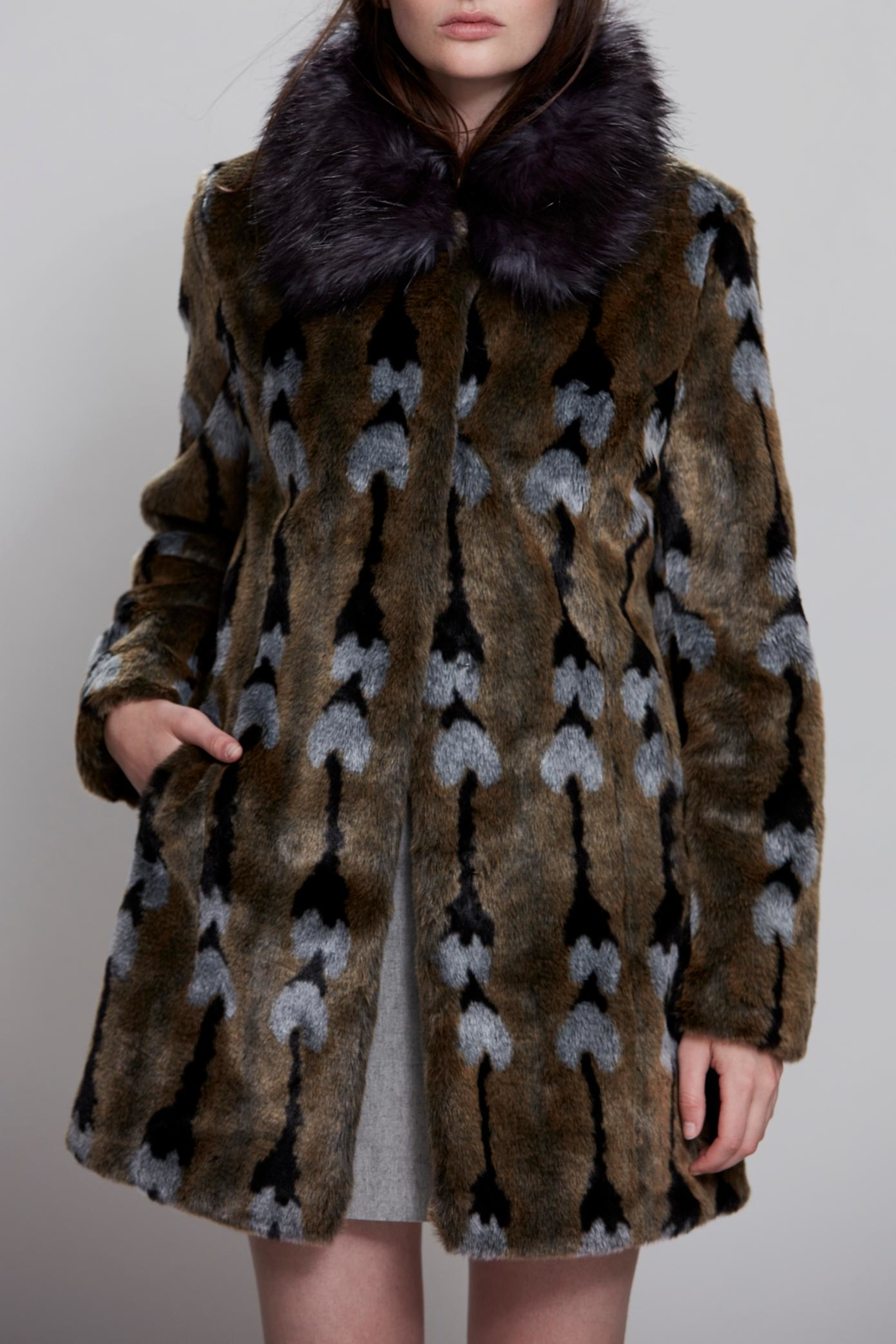 UNREAL FUR Reflections Coat - Front Cropped Image
