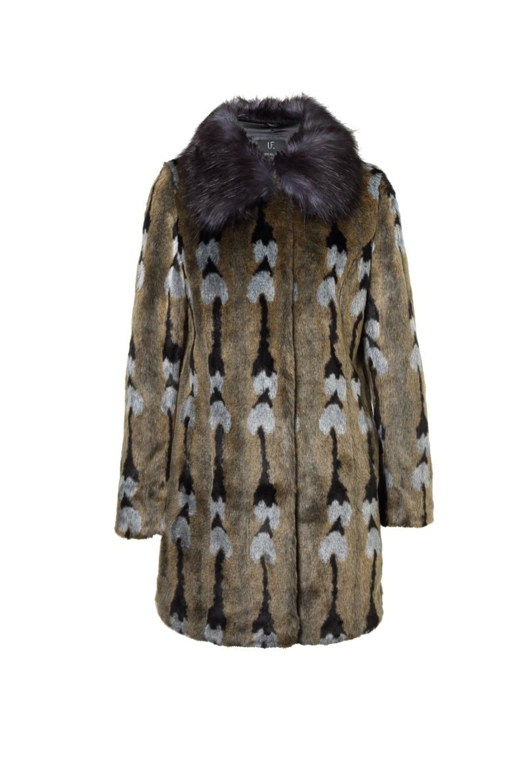 UNREAL FUR Reflections Coat - Front Full Image