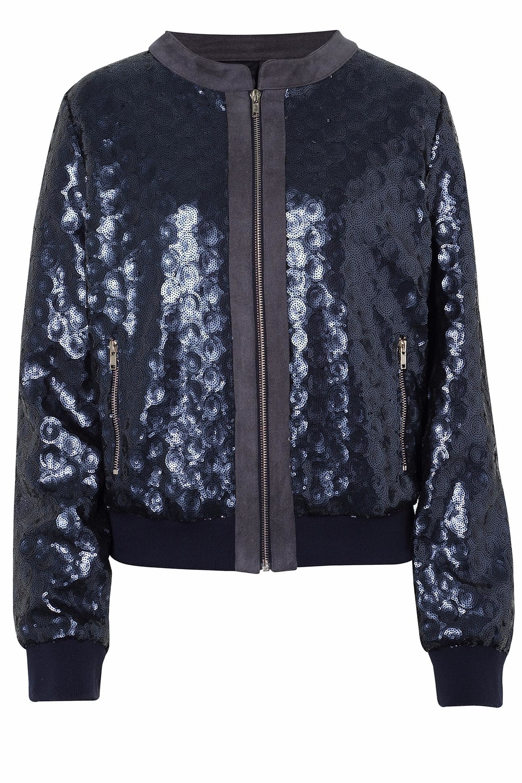 UNREAL FUR Sequin Bomber Jacket - Front Cropped Image