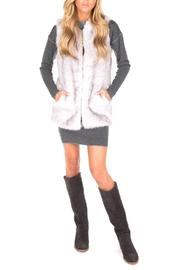 UNREAL FUR Silver Lining Vest - Front full body