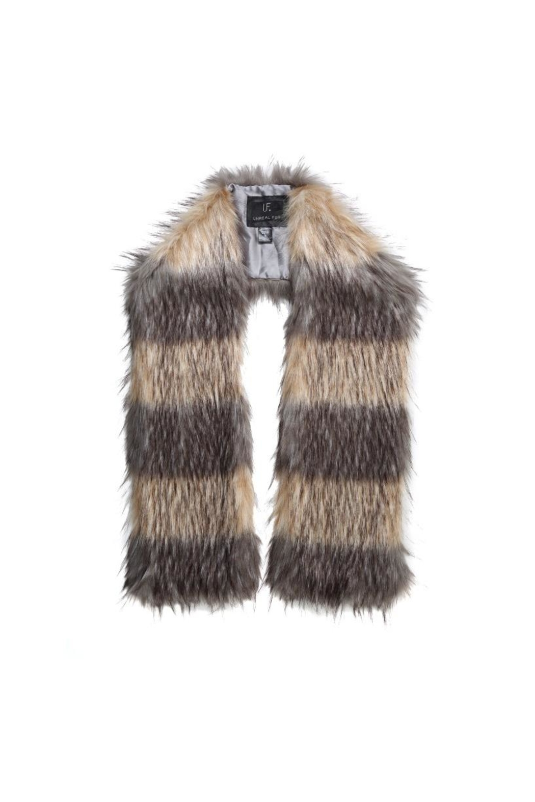 UNREAL FUR Striped Fur Scarf - Main Image