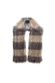 UNREAL FUR Striped Fur Scarf - Front cropped