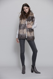 UNREAL FUR Striped Fur Scarf - Front full body