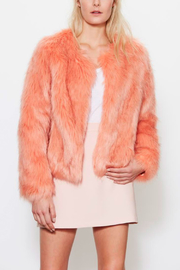 UNREAL FUR Faux Fur Dream Peach Jacket - Product Mini Image