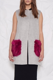 UNREAL FUR Vested Interest Gilet - Front cropped
