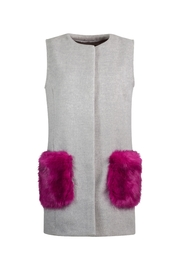 UNREAL FUR Vested Interest Gilet - Front full body