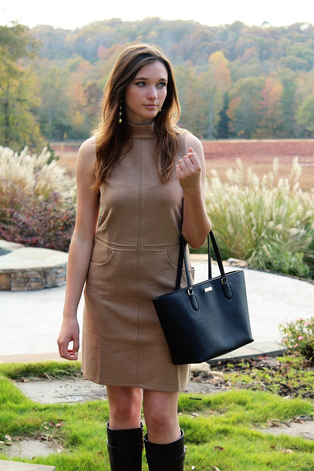 Simply Noelle Unstoppable Mock Neck Dress - Front Cropped Image