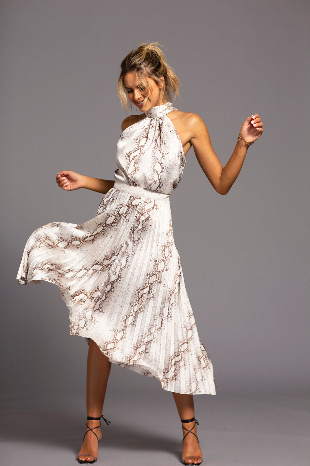 Bishop + Young Untamed Pleated Midi Skirt - Front Cropped Image