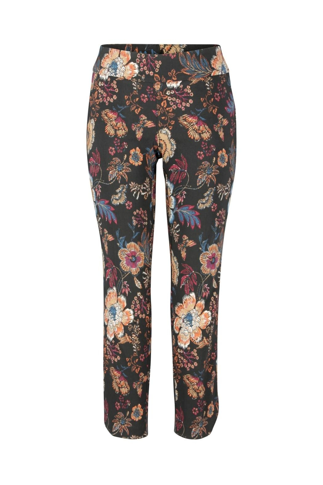 Up! Floral Fall Pant - Side Cropped Image