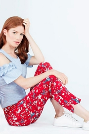 Up! Red Pattern Pant - Product Mini Image