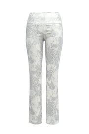 Up! Silver Paisley Pant - Front cropped