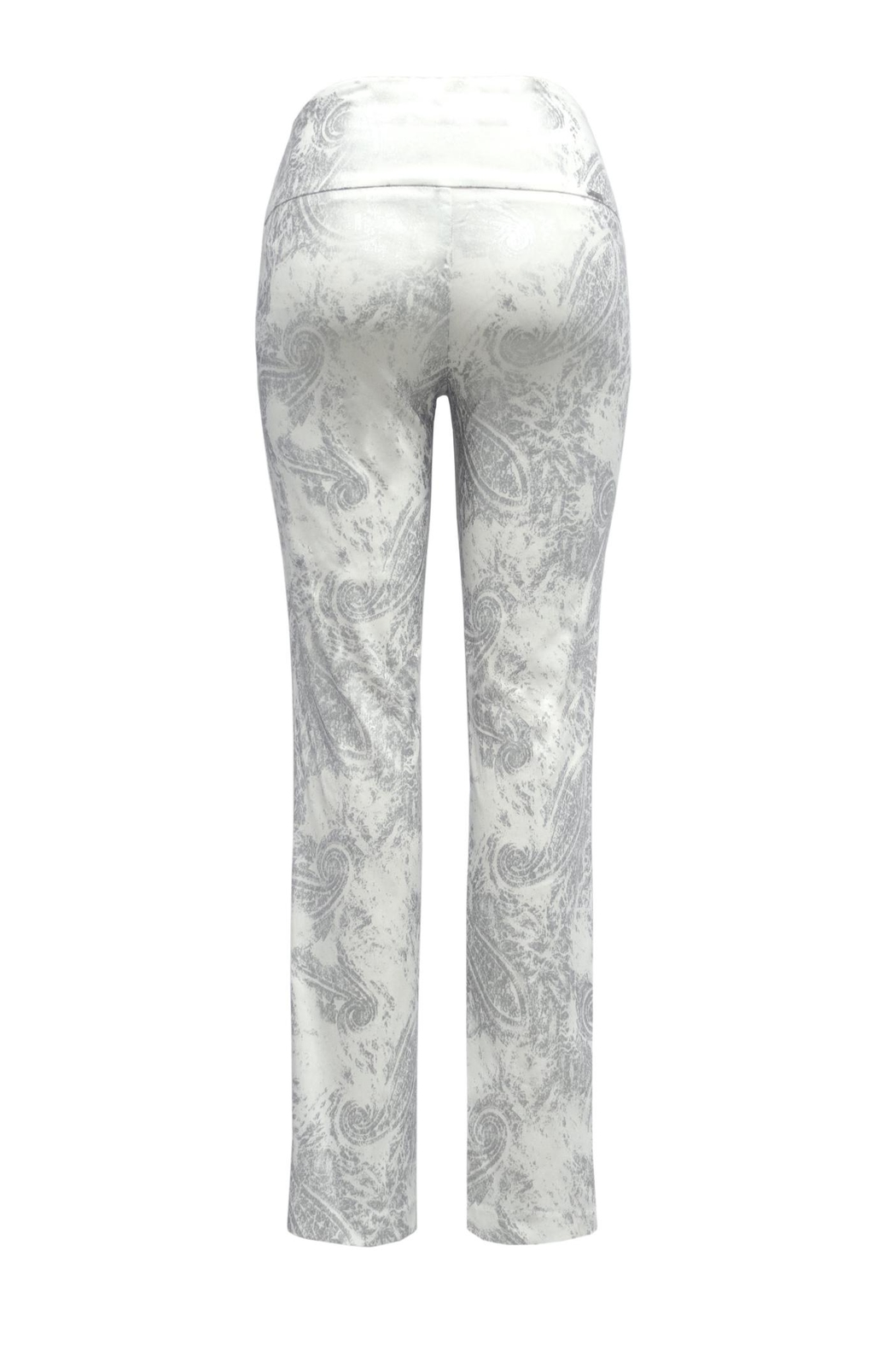 Up! Silver Paisley Pant - Front Full Image